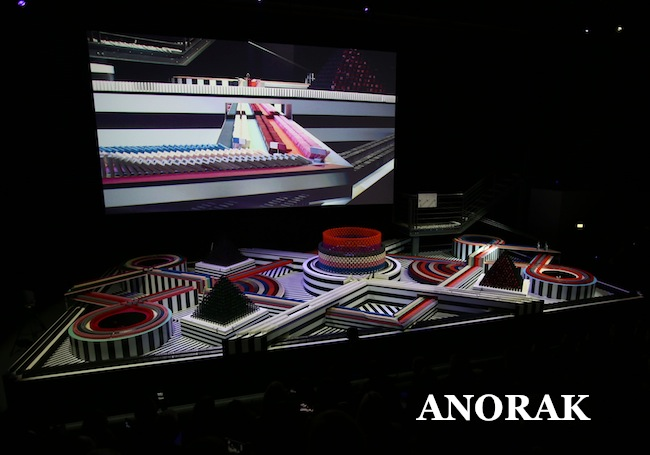 PA 15845223 Anya Hindmarch does it with dominoes at London Fashion Week 2013