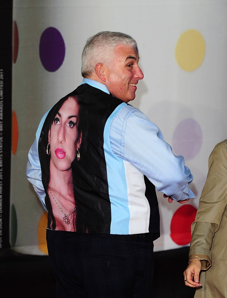 PA 15855894 780x1024 Mitch Winehouse wears Amy Winehouse as a waistcoat at the Brits