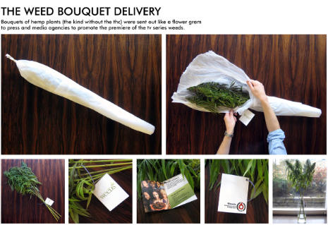 Weeds bouquet Youre smokin: a marijuana gift for St Valentines Day