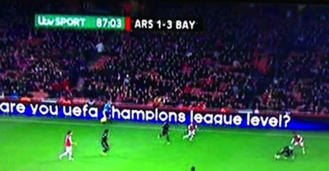 arsenal  Even the Champions League hoardings troll Arsenal