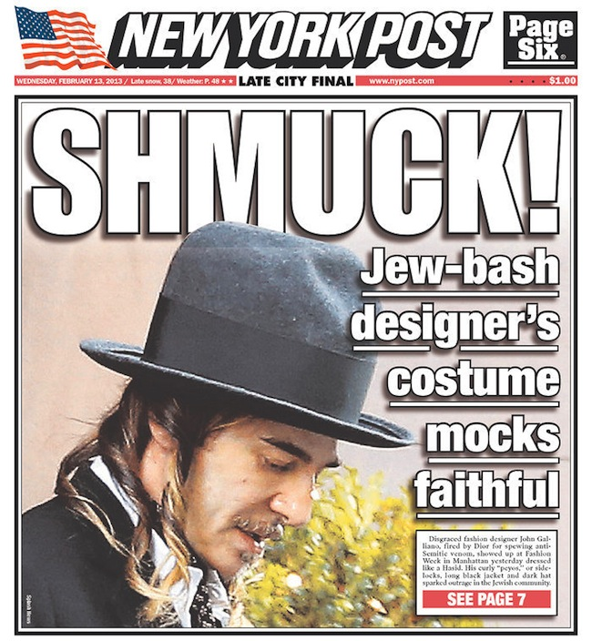 galliano jews John Galliano dresses like a schlocky Nazi