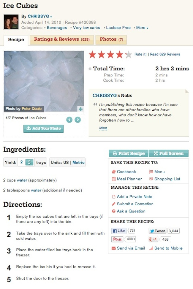 ice cube recipe The ultimate ice cube recipe