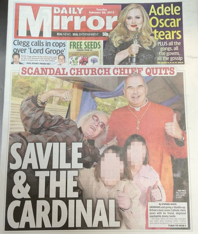 keith obrien savile Cardinal Keith OBrien, Jimmy Savile and blowing smoke up the Catholic Church
