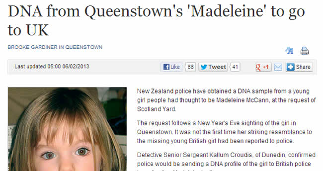 mccann new zealand  Madeleine McCann: A jailed troll and police swab kids in New Zealand