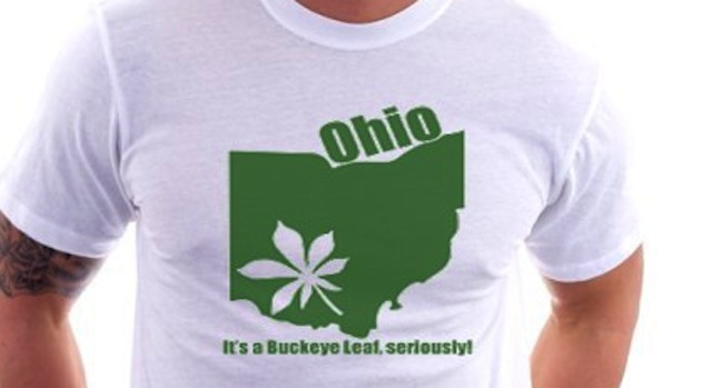 ohio Police stop man for driving with buckeye leaf sticker: my other cars a meth lab
