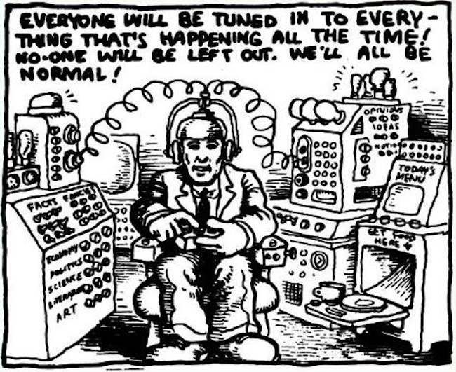 robert crumb twitter Robert Crumb predicted twitter and the internet (photo)