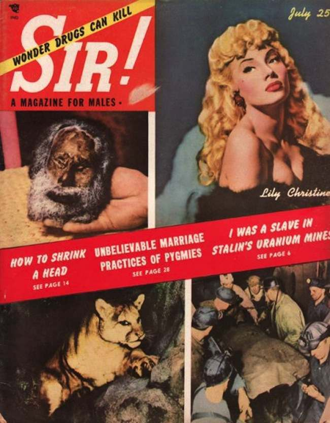 sir pygmies Sir magazine retrospective: Bettie Page, naked Doukhobors and marijuana addicts