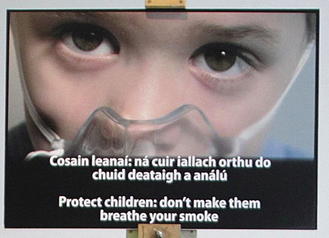 smoke ireland These photographs will appear on cigarette packaging sold in Ireland