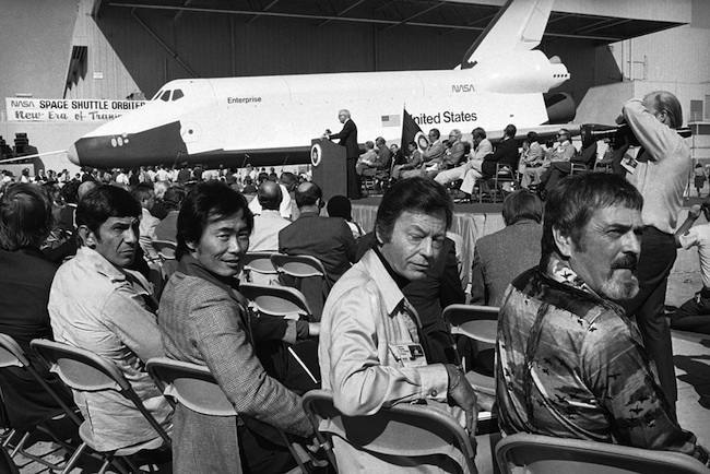 star trek enterprise 1976: the Star Trek cast meet the Space Shuttle Orbiter Enterprise