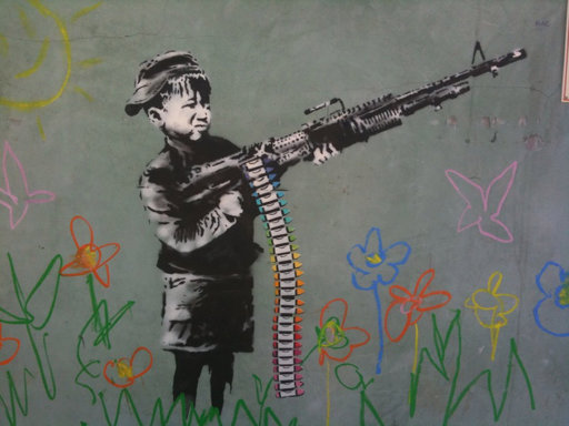 Banksy art in LA