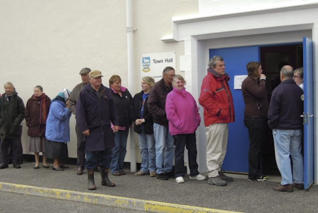 16007971 The Falklands referendum: photos of a loaded vote