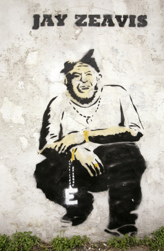 Michael Eavis as Jay-Z by Banksy - Glastonbury