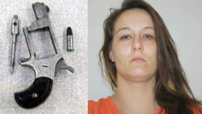 Christie Dawn Harris gun Woman hides loaded gun in vagina