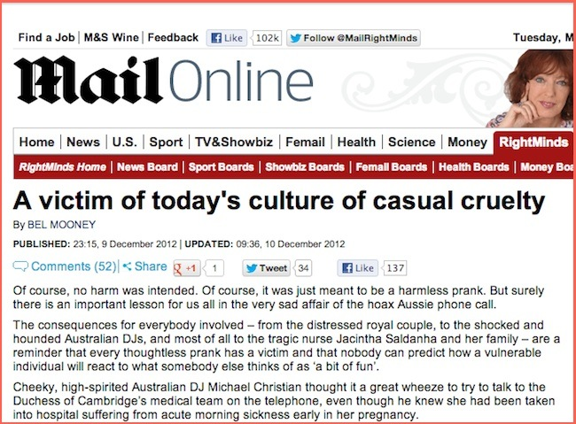 Lucy Meadows Lucy Meadows, Jacintha Saldanha and the Daily Mails culture of casual cruelty