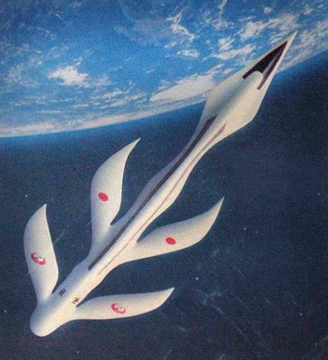 Luigi Colani hypersonic passenger plane, 1983