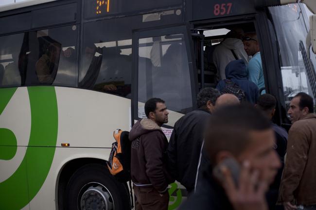 Mideast Israel Palestinians Separate Buses
