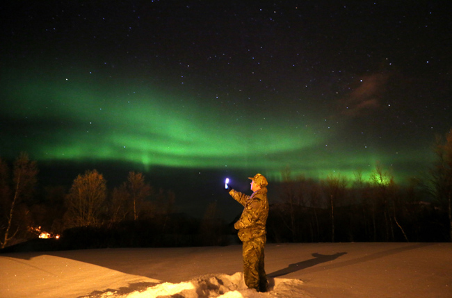 Royal Marines Commando Reservists training in Norway