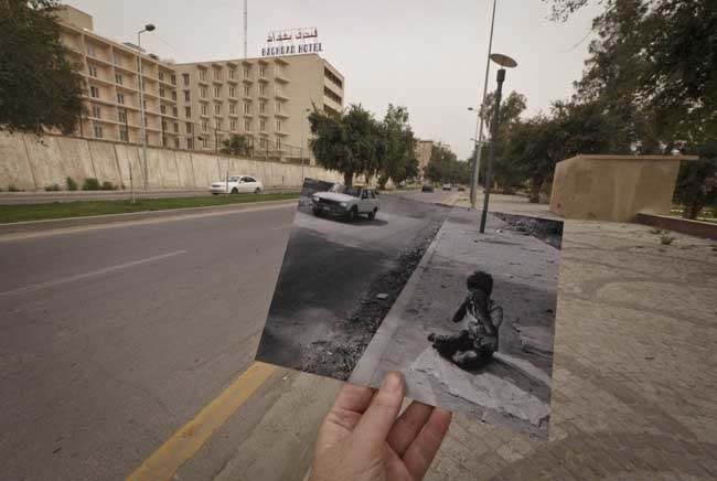 PA 16076555 On This Site: photos of Iraq then and 10 years after the invasion