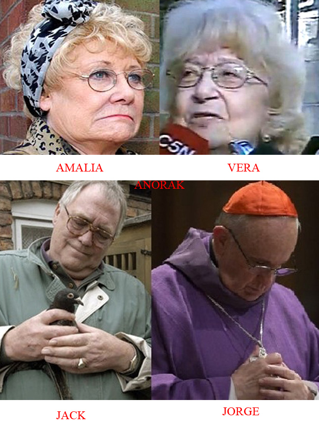 Pope Francis wife I was Pope Franciss 12 year old lover (says Vera Duckworth look alike)