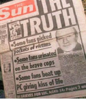 The Sun Hillsborough The Sun cites Hillsborough as evidence for a free and fair Press (irony overload)