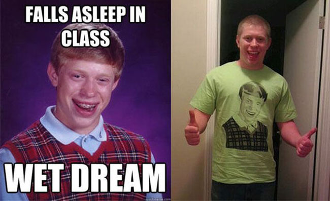 bad luck brian Meme heroes in real life