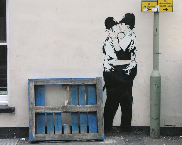 banksy graffiti 18 99 acts of vandalism by BANKSY