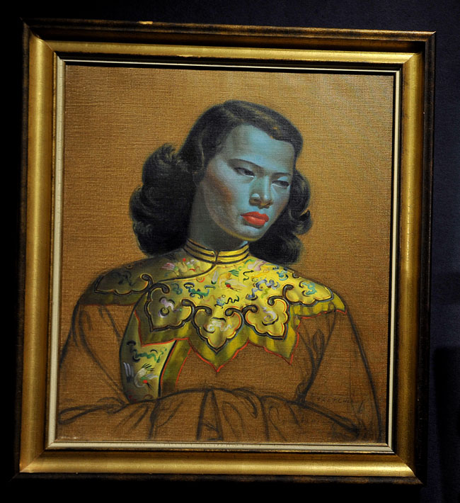 chinese girl tretchikoff Blue Lady by Vladimir Tretchikoff sells for 1million