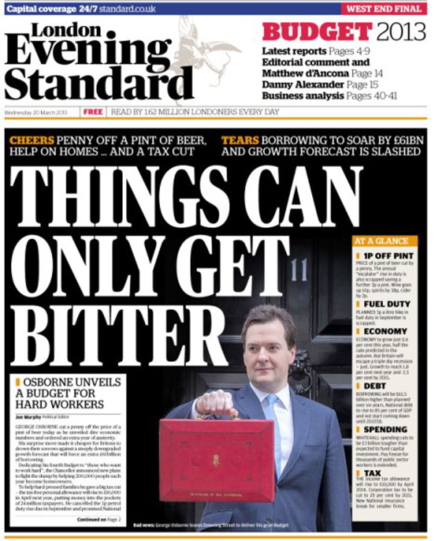 evening standard leak Blame the system not the journalist for the Evening Standards Budget leak
