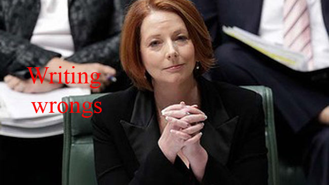 gillard herald copy Julia Gillards creepy good luck message to tabloid The Sydney Morning Herald