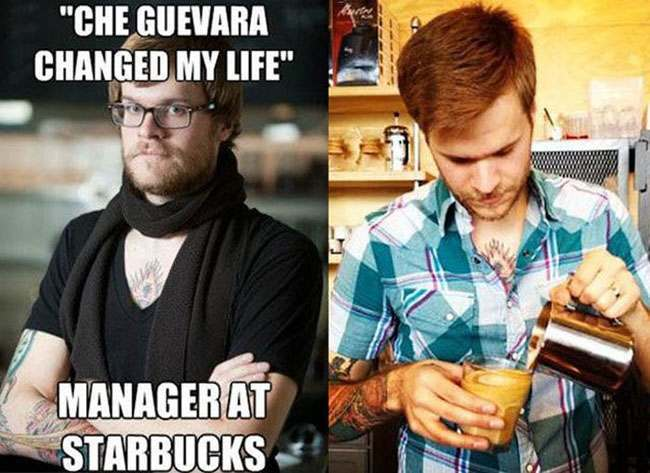 Meme hipster barista