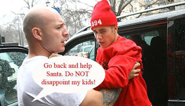 justin bieber pap Justin Bieber challenges a photographer to a fight (shanking with laughter)