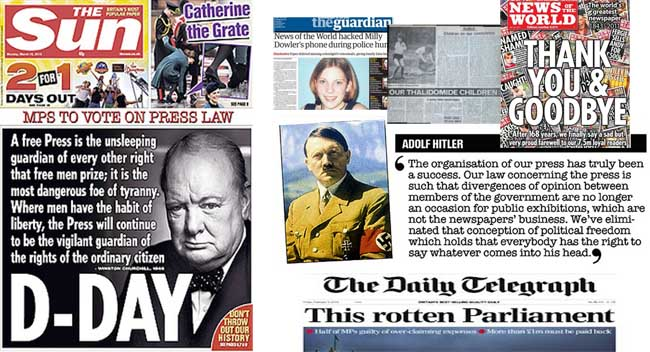 leveson press 1 Hacked Off are Hitlers Nazis fighting The Suns Winston Churchill: the Press freedom vote