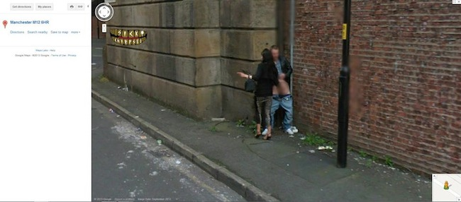 manchester M126HR Google Streetview records something odd in Temperance Street, Manchester M126HR