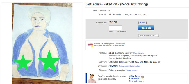 naked pat eBay seller thedoctorwhoguide2012s 10 best offers (these are fantastic)