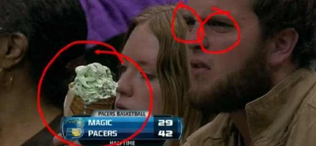 orlando magic pacers ice cream Sports analysis of man who wont share ice cream at the Orlando Magic and Indiana Pacers game