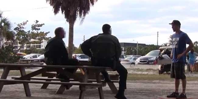 parkour jump cops