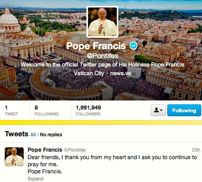 pope francis pray for me