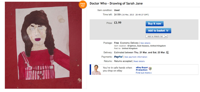 sara dr who eBay seller thedoctorwhoguide2012s 10 best offers (these are fantastic)