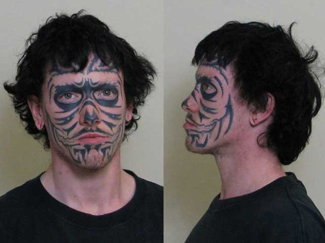 tattoo thief Police warning: if you bought a fridge from skull face man it might be stolen