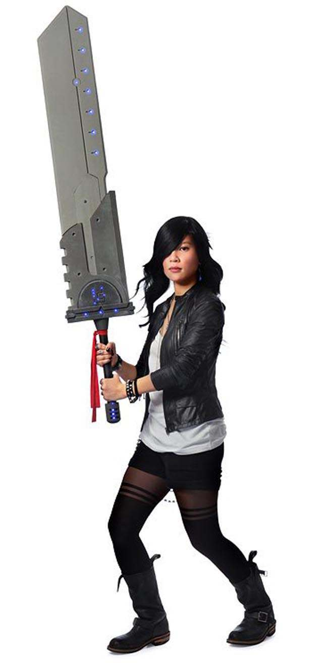 titan sword 3 The gigantic foam Cosplay Titan sword with lights demands fear and respect