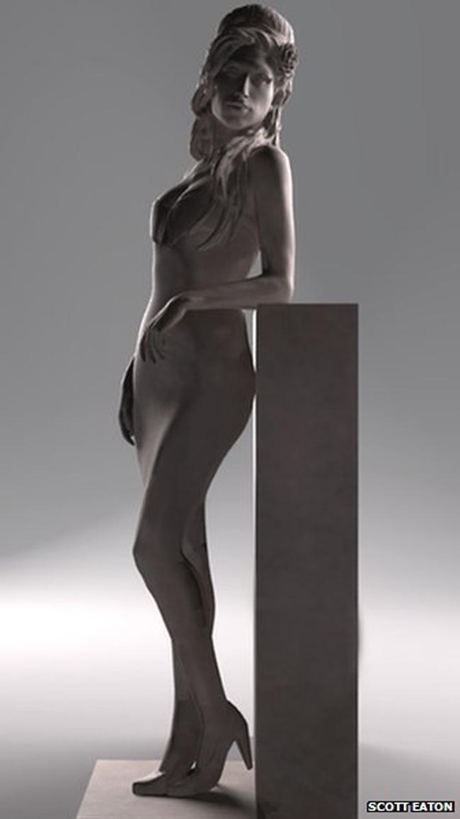 winehouse statue camden