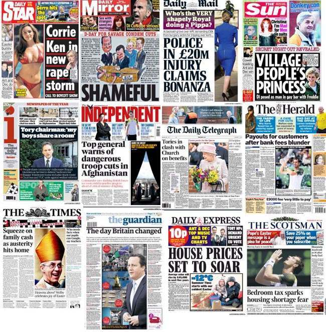 April Fools day newspapers