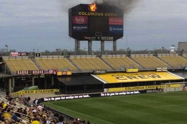 Columbus Crew fire scoreboard