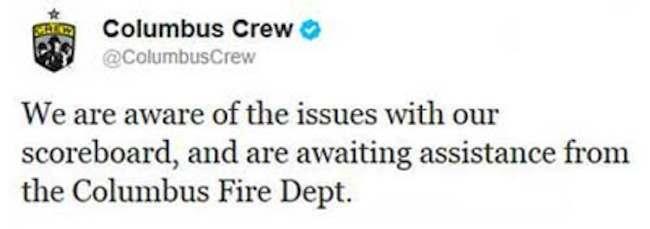 Columbus Crew fire