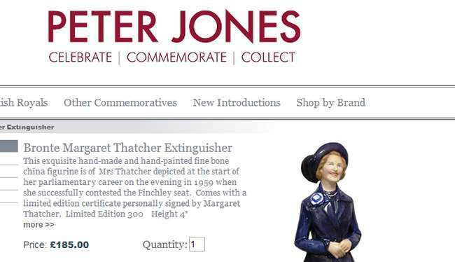 Margaret Thatcher cande snuffer The Margaret Thatcher commemorative candle snuffer