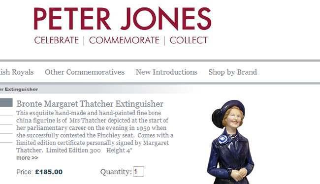 Margaret Thatcher cande snuffer