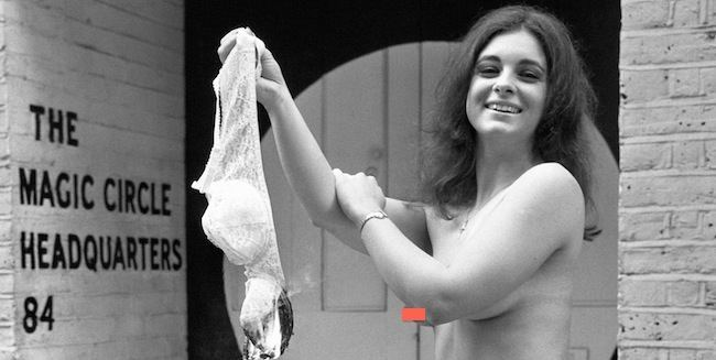 Woman burns bra in 1972