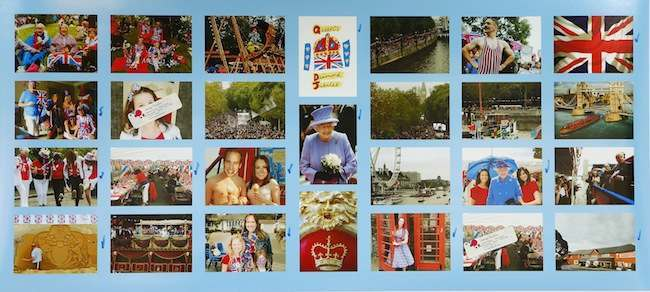 PA 16093508 Queens Diamond Jubilee jigsaw collapses like a Prince Andrew Jenga set