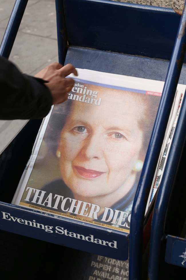 Baroness Thatcher death