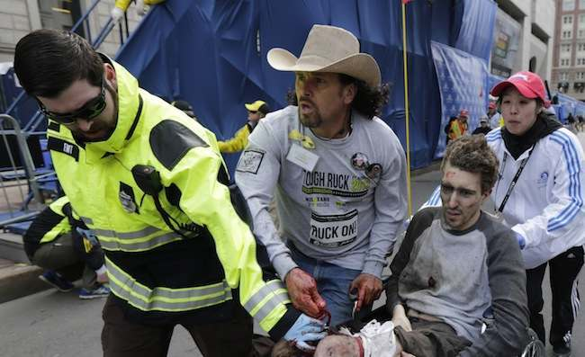 PA 16278777 1 Boston Marathon Bombings: Carlos Arredondo is the illegal immigrant who was there to help
